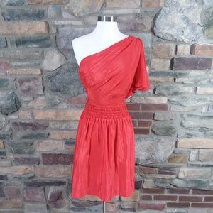 Eliza J Royal Collection one shoulder red 8